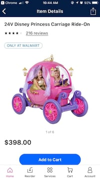 Toddler's pink and purple ride on toy car Dallas, 75228