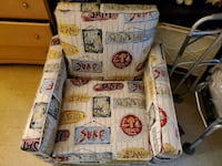Like new..Beachy Summer accent chair..from Bobs Yonkers, 10703