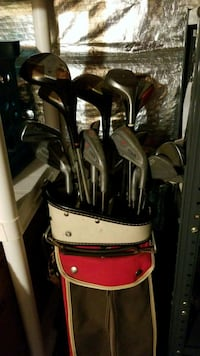 brown and black golf bag with golf clubs Alexandria, 22304