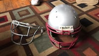 white and red Riddell football helmet 28 mi