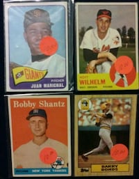 Price Drop. Four Old Baseball Cards.