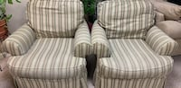 White and gray stripe sofa chair Hopewell Junction, 12533