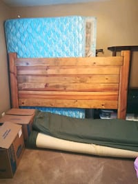 brown wooden bed frame with blue mattress Camp Verde, 86322