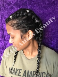 Hair styling by Exotic Auras Beauty Houston