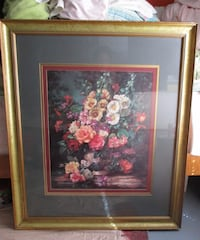 beige wooden framed painting of assorted-color petaled flowers Interlachen