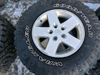 285/70R17 jeep wrangler wheels and winter tires 3126 km
