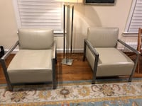Room&Board Leather Chairs (2) Silver Spring