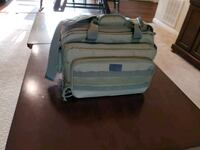 white and blue travel luggage New Albany, 43054