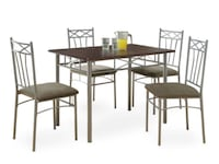 5 Piece Dining Set in Cappuccino by monarch  model 110201