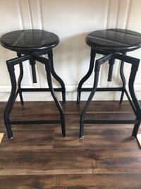 Two black wooden bar stools Barrie, L4N 2T9