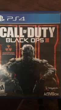 PS4 Call of Duty Black Ops III game case
