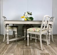 White wooden dining table set Centreville, 20120