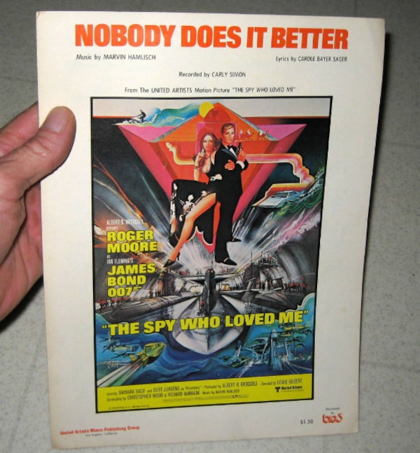 Used 1977 JAMES BOND CARLY SIMON NOBODY DOES IT BETTER