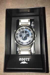 Roots Men's stainless steel watch....like new condition!! Langley, V1M 3Y8