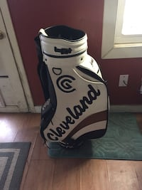 White, black, and brown cleveland golf bag Lakewood, 80214