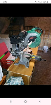 12 inch mitre saw with deul bevel slide -Sold PPU