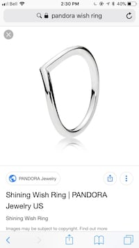 Pandora wish ring size 7 Mississauga, L4Z 1X8