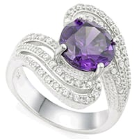 925solid sterling silver,ameth&white sapphire sz7 Brownsville, 15417