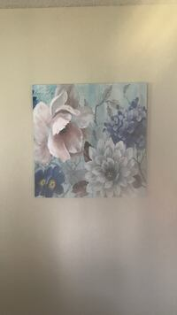 white and blue flower painting Villa Rica, 30180