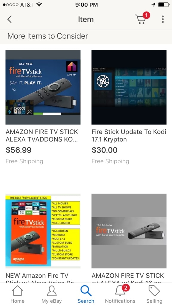assorted Fire TV Sticks