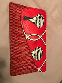 Red and white stripe textile purse  Lawrenceville, 30046