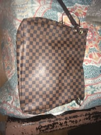 black and brown Louis Vuitton leather backpack Compton, 90222