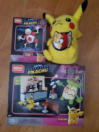 Pokemon Mega Construct Sets and Pikcahu Plush