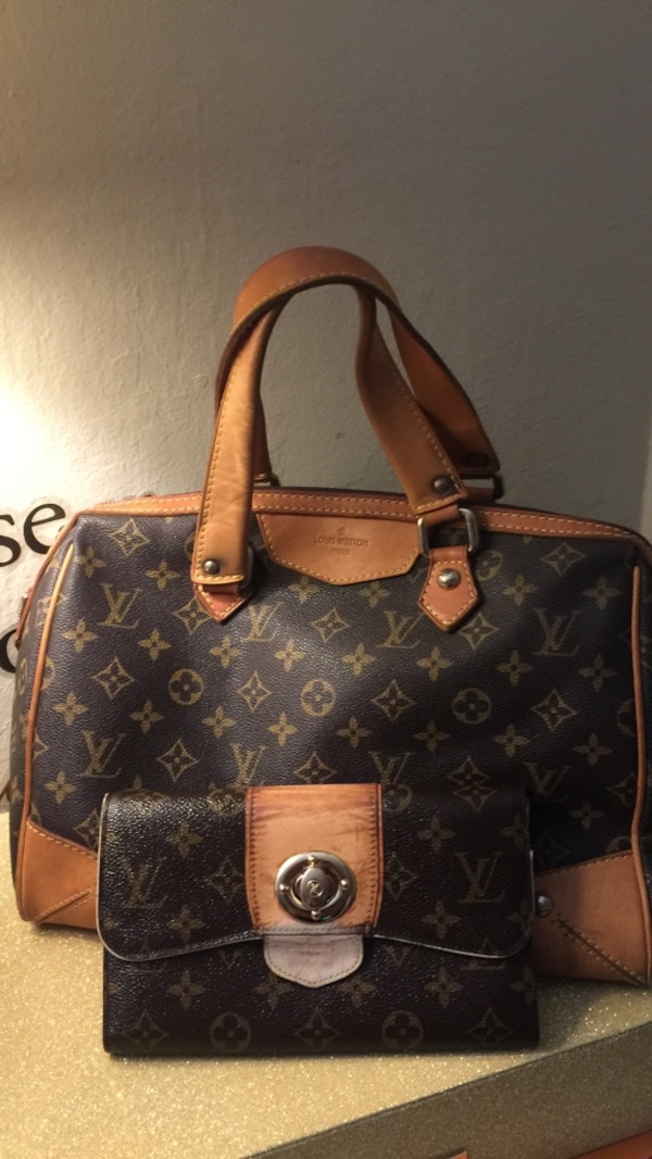 37d74b22fdf8 Used black and brown Louis Vuitton leather tote bag for sale in Redwood City  - letgo
