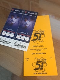 Two tickets to the 51s + VIP parking Las Vegas, 89149