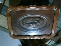 Antique carved table with glass top Omaha, 68135