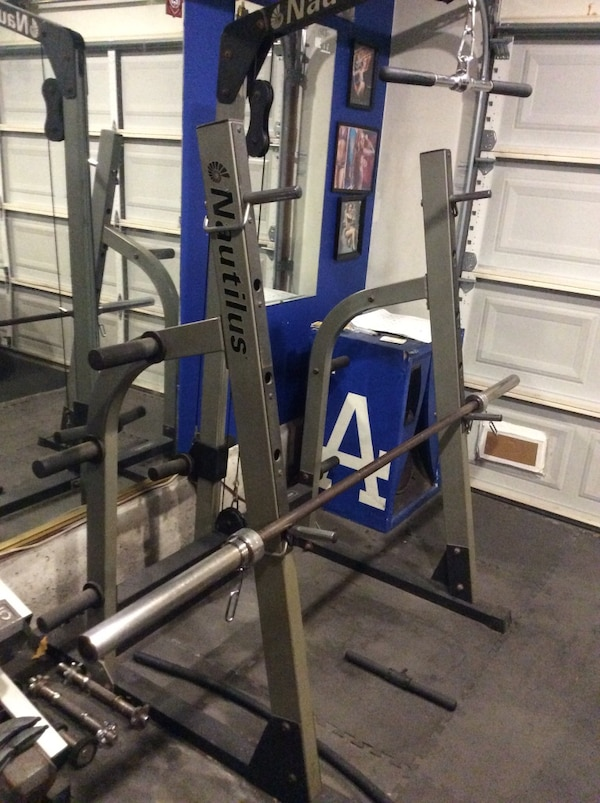 Used Squat Rack >> Used Nautilus Squat Rack With Lat Pull Down For Sale In Oxnard Letgo