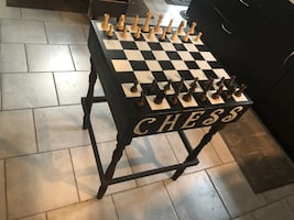 Hand painted Chessboard Table