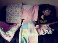 Miscellaneous girls baby blankets