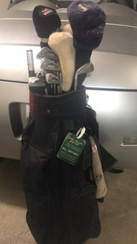 black and gray golf bag Franklin, 37069