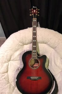 Acoustic/ electric Ibanez guitar with built in tuner