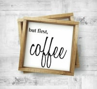 Wood Framed Coffee sign