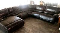 black leather sectional sofa with ottoman Outlook, 98938