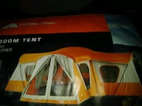 NEVER USED Orange and white 14 person tent Little River, 29566