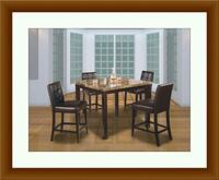 Marble table tall with 4 chairs free delivery  Gaithersburg