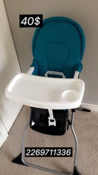 baby's blue and white high chair غويلف, N1L 1C8