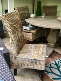 4 wicker chairs and 2 wicker counter chairs from Pier One HOUSTON
