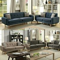 blue cushion couch set Los Angeles, 90032