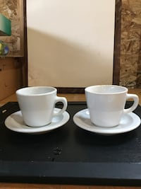 Restaurant Style Coffee Cups and Saucers
