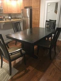 rectangular brown wooden table with six chairs dining set Alexandria, 22312
