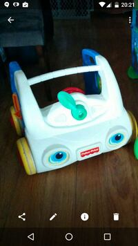 white and teal Fisher Price toy car Terrebonne, J7M