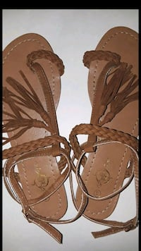 pair of brown leather sandals Garden Grove, 92843