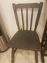 Chalk painted wooden rustic chair.  Kitchener, N2G