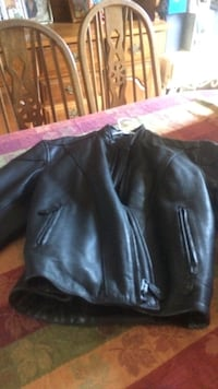 Black leather zip up jacket mens reduced to 140 Wallingford, 06492
