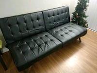 black leather tufted sofa chair Delhi, 110018