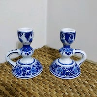 Pair of Delft candle holders Toronto, M2J 2C4